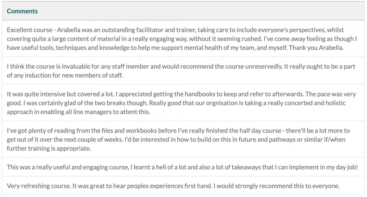 Universities share feedback